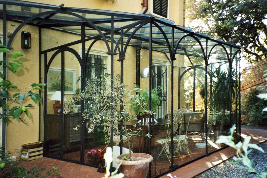 Realizzazione giardini d 39 inverno in ferro battuto a livorno - Giardino d inverno normativa ...