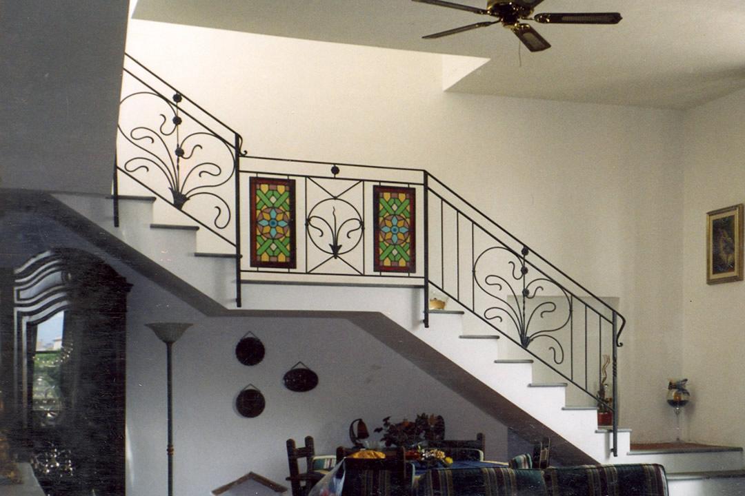 ringhiera scala ferro vetro